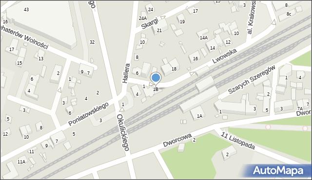 Piastów, Lwowska, 1B, mapa Piastów