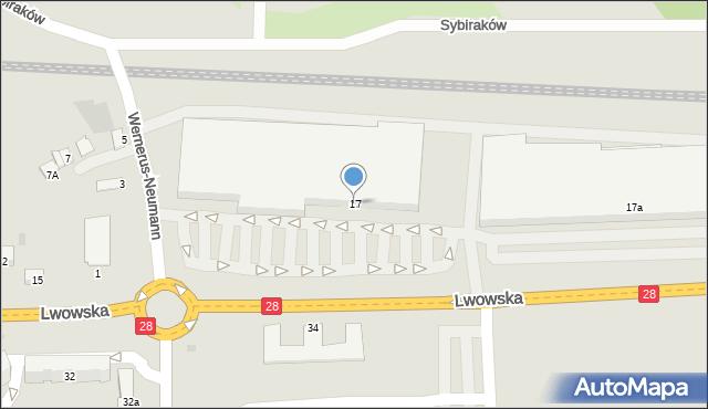 Przemyśl, Lwowska, 17, mapa Przemyśla
