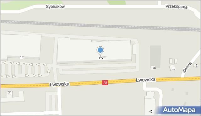 Przemyśl, Lwowska, 17a, mapa Przemyśla