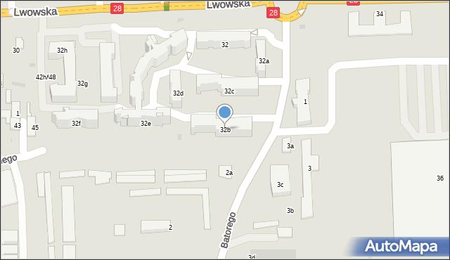 Przemyśl, Lwowska, 32b, mapa Przemyśla