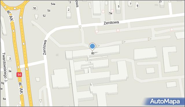 Rzeszów, Lwowska, 60, mapa Rzeszów