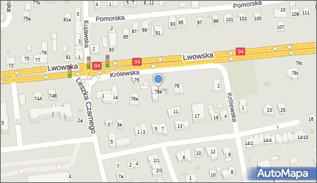 Rzeszów, Lwowska, 78e, mapa Rzeszów