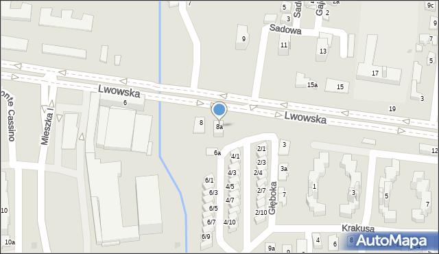 Rzeszów, Lwowska, 8a, mapa Rzeszów