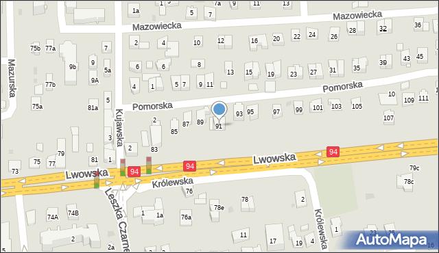 Rzeszów, Lwowska, 91, mapa Rzeszów