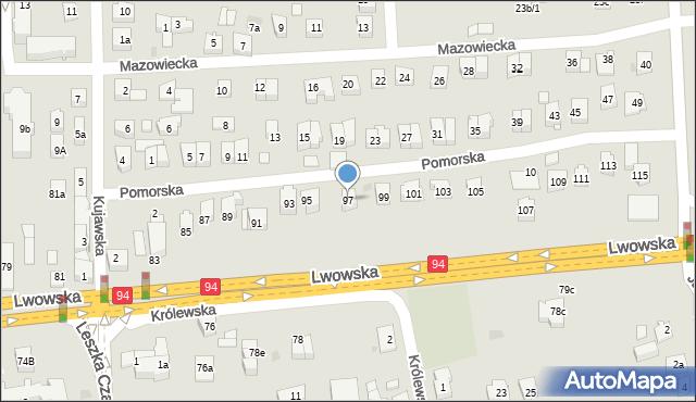 Rzeszów, Lwowska, 97, mapa Rzeszów