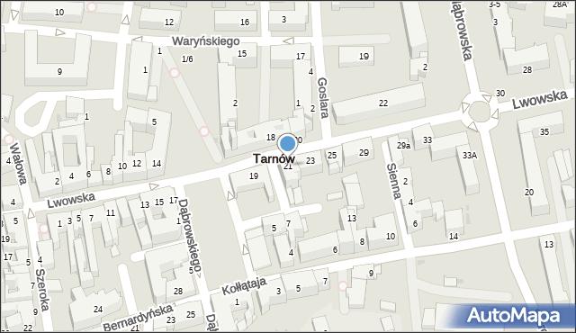 Tarnów, Lwowska, 21, mapa Tarnów