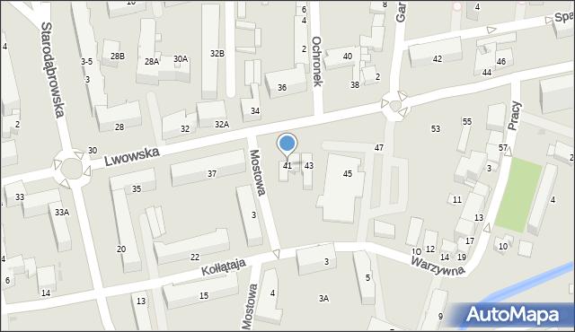 Tarnów, Lwowska, 41, mapa Tarnów