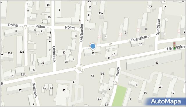 Tarnów, Lwowska, 42, mapa Tarnów