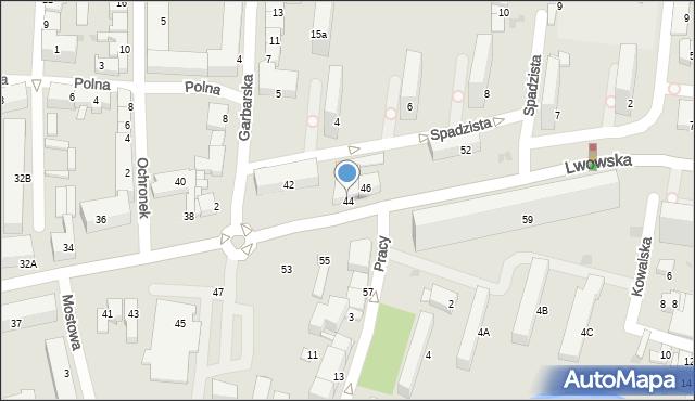 Tarnów, Lwowska, 44, mapa Tarnów