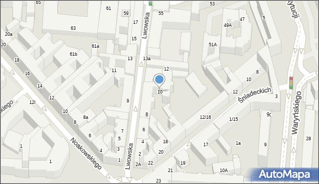 Warszawa, Lwowska, 10, mapa Warszawy