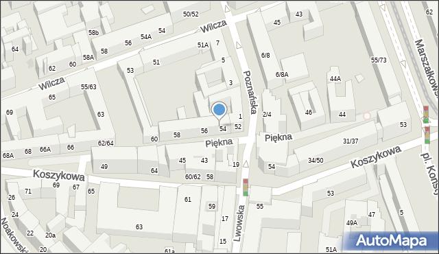 Warszawa, Lwowska, 14, mapa Warszawy