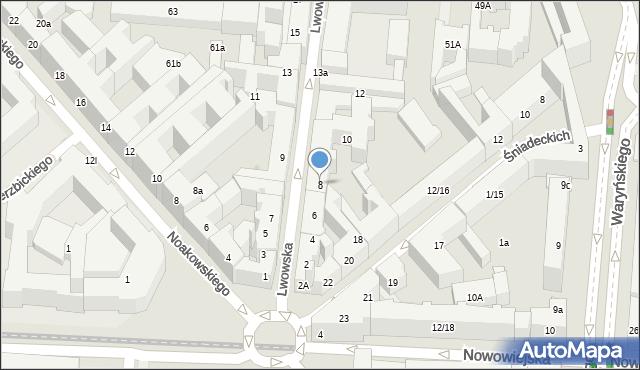 Warszawa, Lwowska, 8, mapa Warszawy