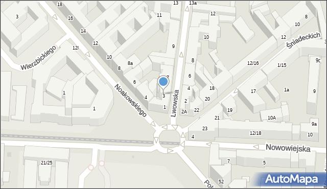 Warszawa, Lwowska, 3, mapa Warszawy