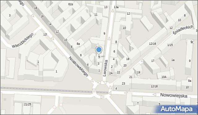 Warszawa, Lwowska, 5, mapa Warszawy