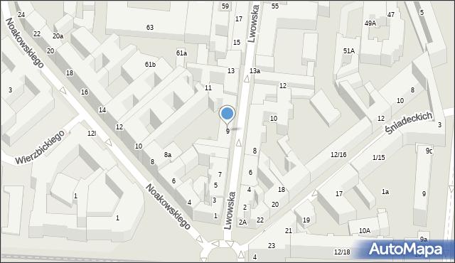 Warszawa, Lwowska, 9, mapa Warszawy