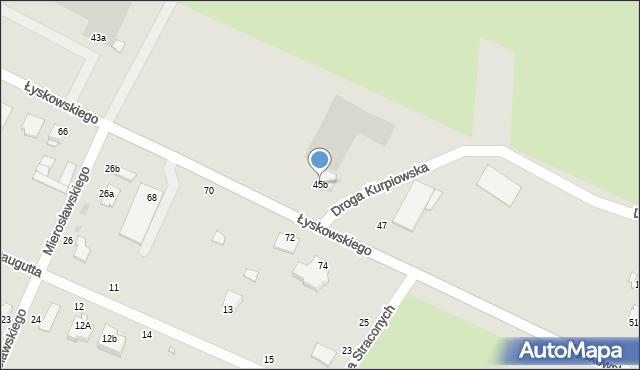 Grudziądz, Łyskowskiego Ignacego, 45b, mapa Grudziądza