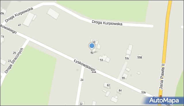 Grudziądz, Łyskowskiego Ignacego, 51, mapa Grudziądza