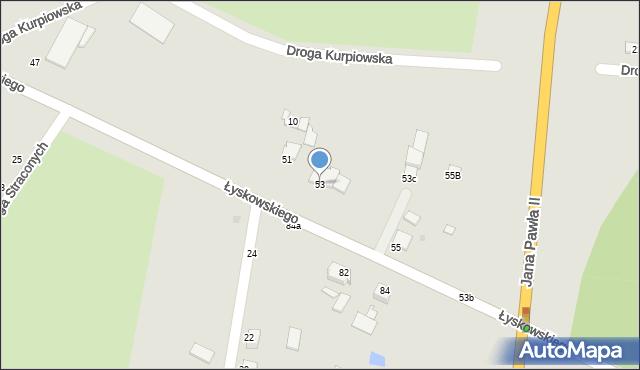 Grudziądz, Łyskowskiego Ignacego, 53, mapa Grudziądza