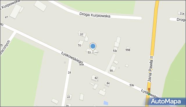 Grudziądz, Łyskowskiego Ignacego, 53a, mapa Grudziądza
