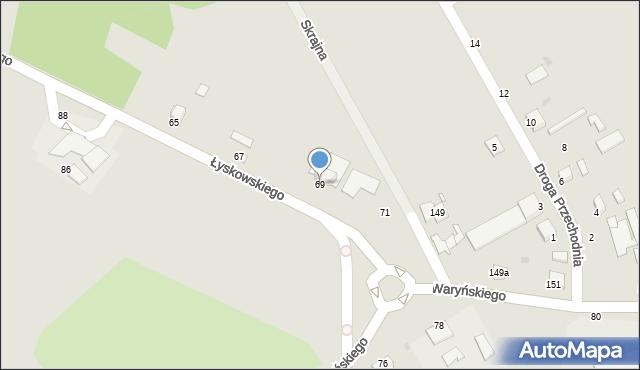 Grudziądz, Łyskowskiego Ignacego, 69, mapa Grudziądza
