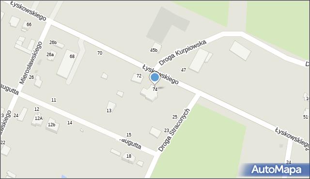 Grudziądz, Łyskowskiego Ignacego, 74, mapa Grudziądza
