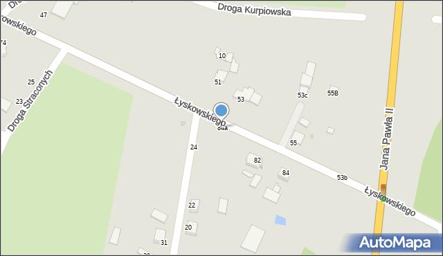 Grudziądz, Łyskowskiego Ignacego, 84a, mapa Grudziądza