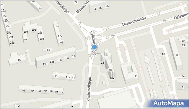 Toruń, Łyskowskiego Ignacego, 18c, mapa Torunia