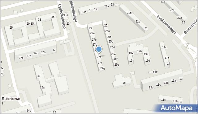 Toruń, Łyskowskiego Ignacego, 27e, mapa Torunia