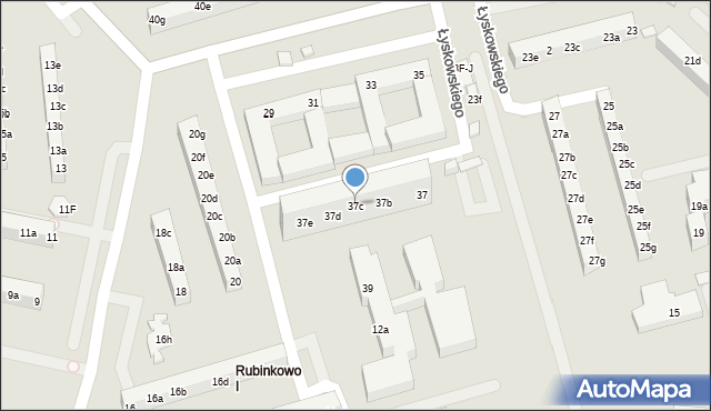Toruń, Łyskowskiego Ignacego, 37c, mapa Torunia