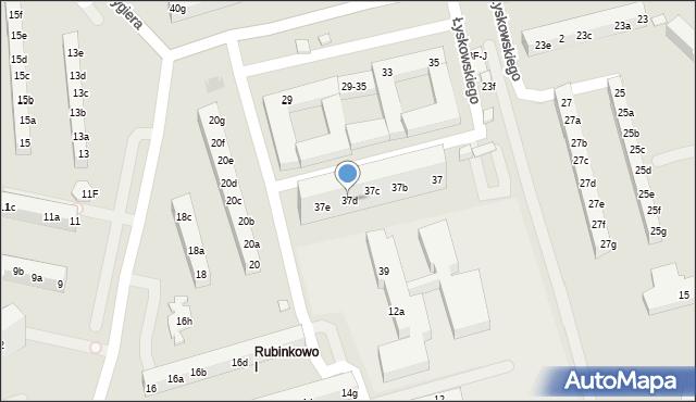 Toruń, Łyskowskiego Ignacego, 37d, mapa Torunia