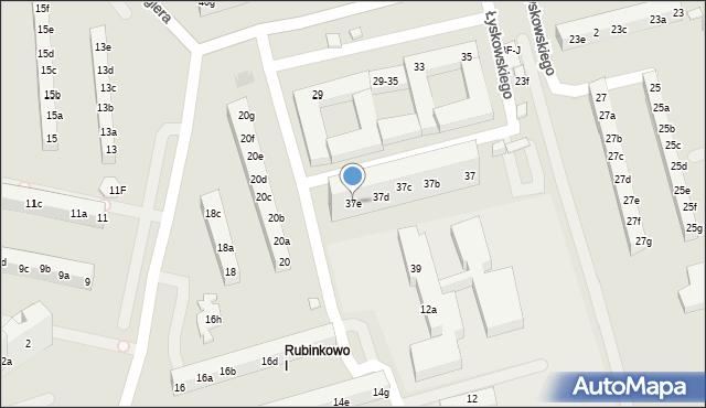 Toruń, Łyskowskiego Ignacego, 37e, mapa Torunia