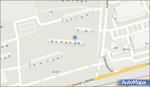 Toruń, Łyskowskiego Ignacego, 3b, mapa Torunia