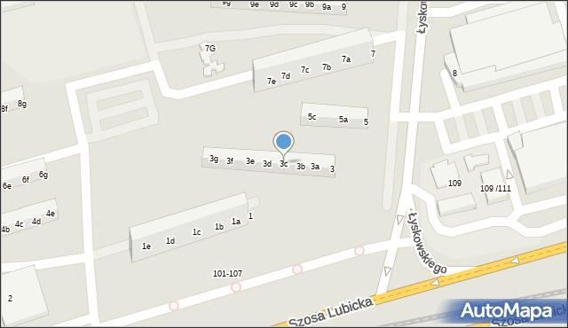 Toruń, Łyskowskiego Ignacego, 3c, mapa Torunia