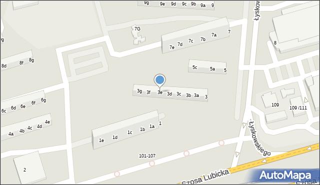 Toruń, Łyskowskiego Ignacego, 3e, mapa Torunia