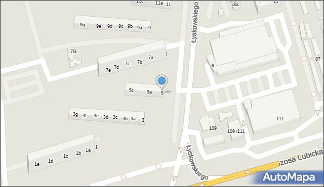 Toruń, Łyskowskiego Ignacego, 5, mapa Torunia