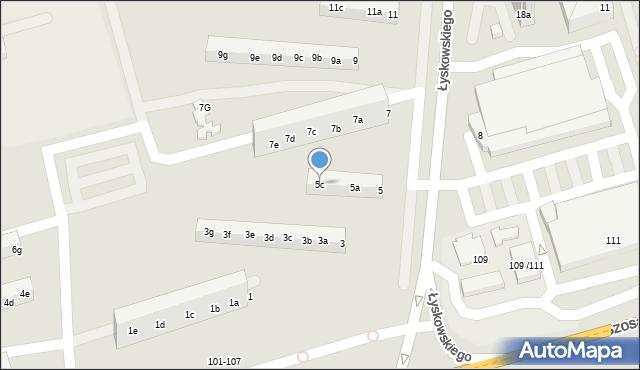 Toruń, Łyskowskiego Ignacego, 5c, mapa Torunia