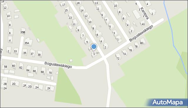 Białystok, Makuszyńskiego Kornela, 1, mapa Białegostoku