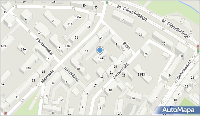 Białystok, Malmeda Icchoka, 12A, mapa Białegostoku