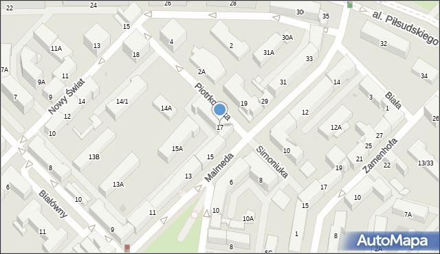 Białystok, Malmeda Icchoka, 17, mapa Białegostoku
