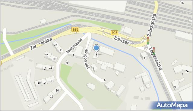 Bytom, Małgorzatki, 2, mapa Bytomia