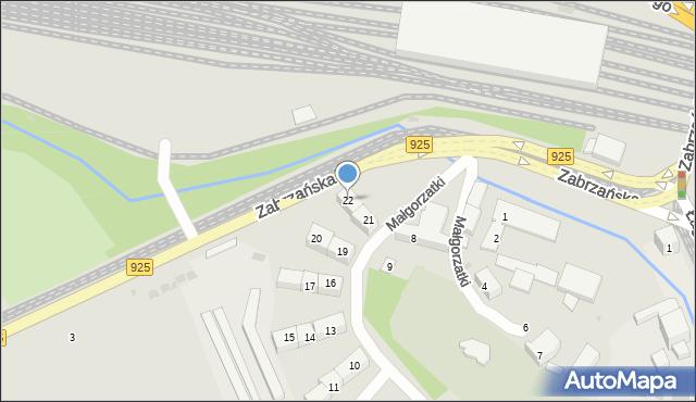 Bytom, Małgorzatki, 22, mapa Bytomia