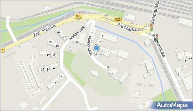 Bytom, Małgorzatki, 4, mapa Bytomia