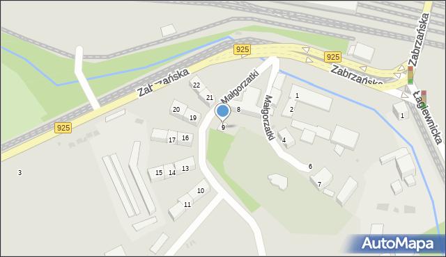 Bytom, Małgorzatki, 9, mapa Bytomia