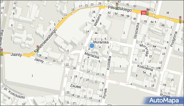Bytom, Mariacka, 1, mapa Bytomia