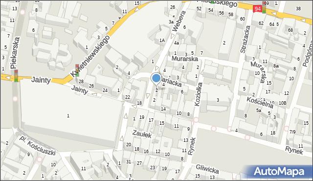 Bytom, Mariacka, 2, mapa Bytomia