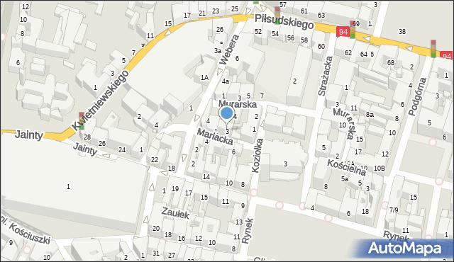 Bytom, Mariacka, 3, mapa Bytomia