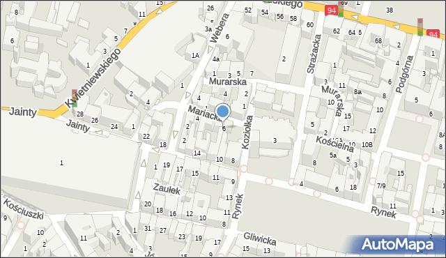 Bytom, Mariacka, 6, mapa Bytomia