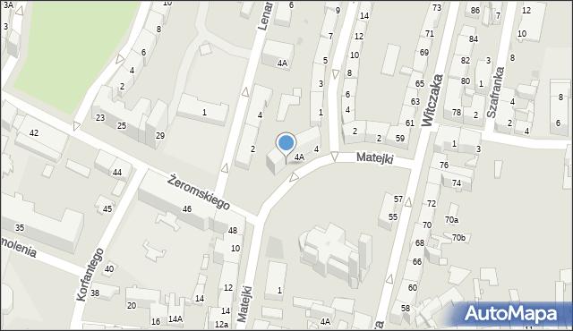 Bytom, Matejki Jana, 4B, mapa Bytomia