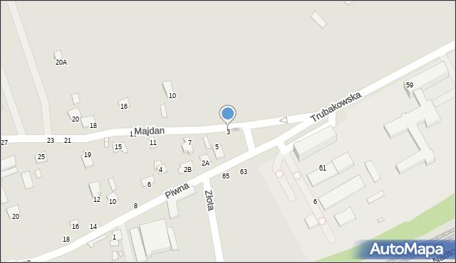 Chełm, Majdan, 3, mapa Chełma