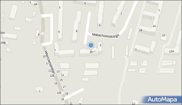 Chełm, Małachowskiego Stanisława, 10, mapa Chełma